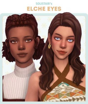 Дефолтные глаза Elche Eyes для Sims 4