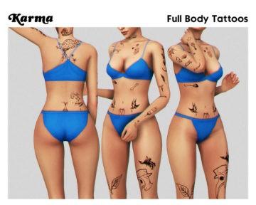 Маленькие татуировки на все тело - Karma Tattoos