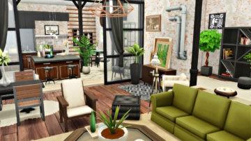 """Квартира в стиле лофт для Sims 4 - """"Industrial Apartment"""""""