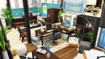 "Квартира для Sims 4 с домашним офисом - ""Working From Home Apartment"""