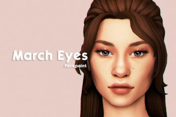 Реалистичные линзы для Sims 4 - March Eyes