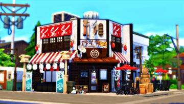 Японский ресторан с баром для Sims 4