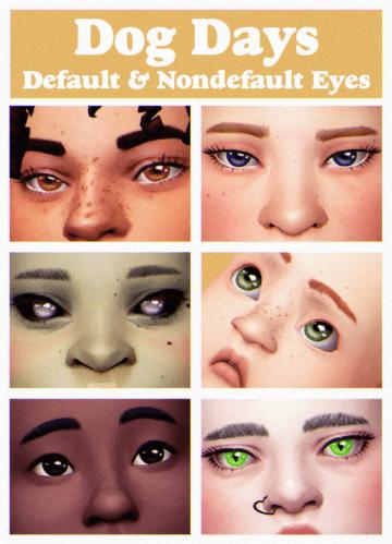 Дефолтные глаза Dog Days для Sims 4