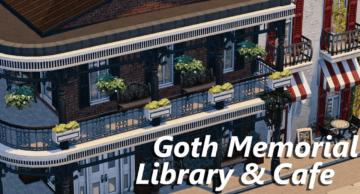 Мемориальная библиотека семьи Гот и кафе для Sims 4
