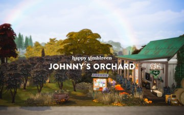 Общественный сад для Sims 4 - Johnnys Orchard