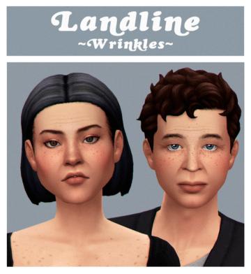 Морщины Landline Wrinkles для Sims 4