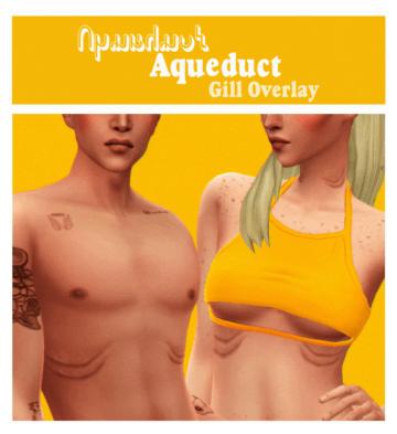 Жабры для русалок в Sims 4 - Aqueduct Gil