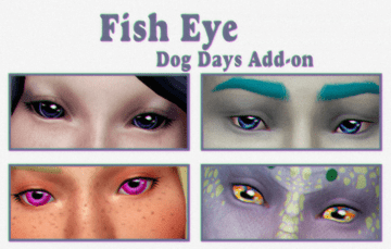 Дефолтные глаза для русалок Fish Eye в Sims 4