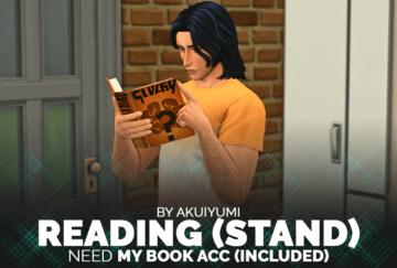 Позы для Sims 4 с книгой - Reading Poses (Standing)