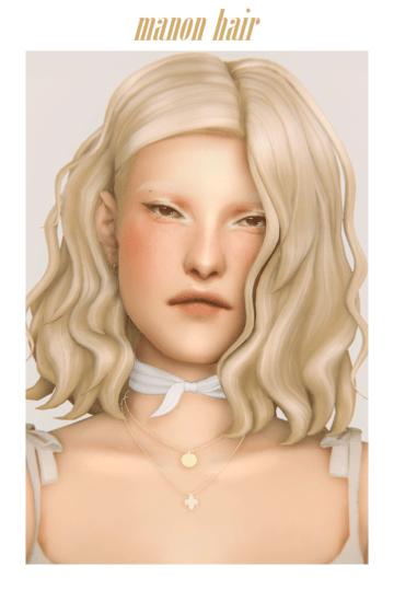 Короткая прическа для Sims 4 - Manon Hair