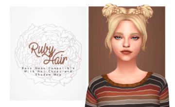 Прическа с милыми пучками - Ruby Hair