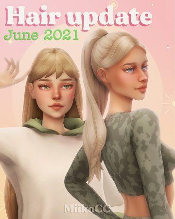 35 женских причесок для Sims 4 - Miiko All Hairs