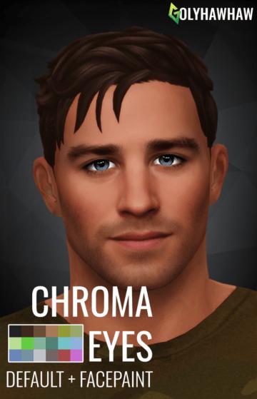 Дефолтные глаза и линзы для Sims 4 - CHROMA EYES