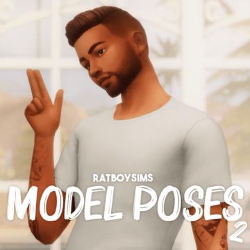 Мужские позы для КАС Sims 4 - Model Poses 2