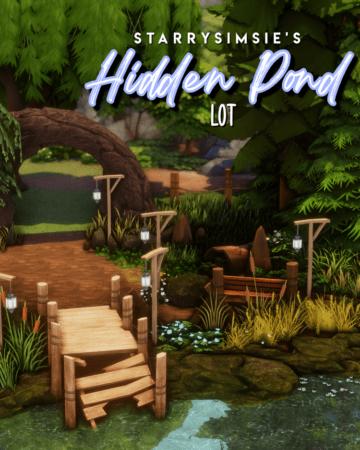 Пруд для Sims 4 - Hidden Pond