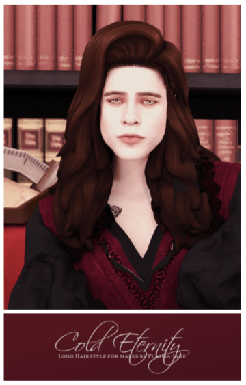 Мужская прическа для Sims 4 с длинными волосами - Cold Eternity