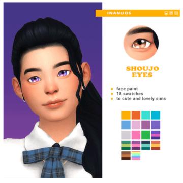 Линзы для Sims 4 в стиле аниме - Shoujo Eyes