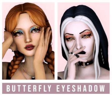 Тени для Sims 4 - Butterfly Eyeshadow