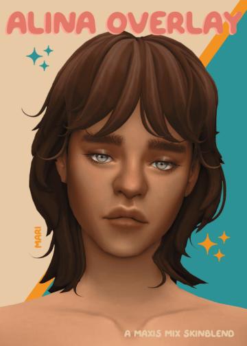 Скин на лицо для Sims 4 - Alina Overlay