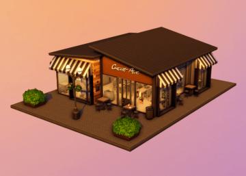 Маленькая кофейня для Sims 4 - cortado coffee shop