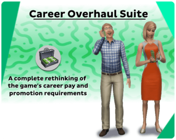 Мод на улучшение карьер для Sims 4 - Career Overhaul Suite