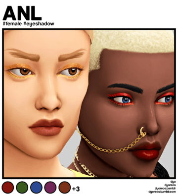 Яркие тени для Sims 4 - ANL Eyeshadow