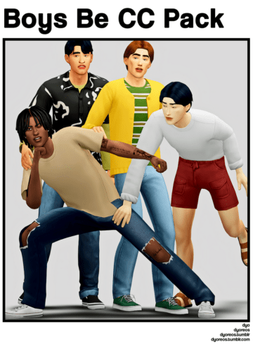 Набор свободной мужской одежды для Sims 4 - Boys Be CC Pack