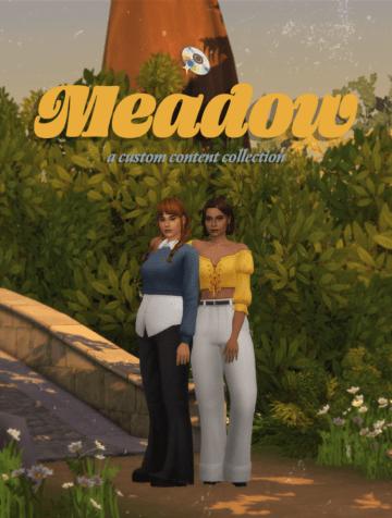 Набор женских причесок и одежды для Sims 4 - The Meadow Collection
