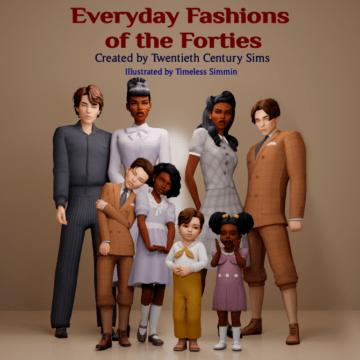 Пак классической одежды для всех возрастов - Everyday Fashion of the Forties Set