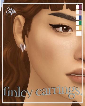 Аккуратные сережки для Sims 4 - Finley Earrings