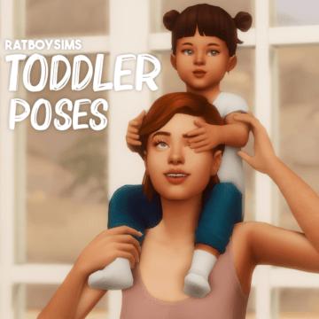 Парные позы для Sims 4 с тоддлером - Toddler Poses