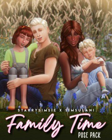 Семейные позы для Sims 4 - Family Time