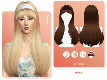 Длинные волосы с повязкой -  Emmi Hairstyle