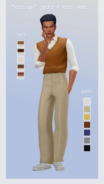 Набор одежды - Vintage pants + vest