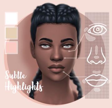 Хайлайтер для Sims 4 - Matte Smooth Highlighter