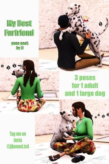 Парные позы для Sims 4 с собакой - My Best Furfriend