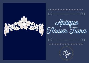Античная тиара для Sims 4 - Antique Flower Tiara