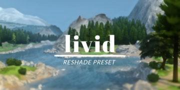 Пейзажный пресет для ReShade Sims 4 - Livid