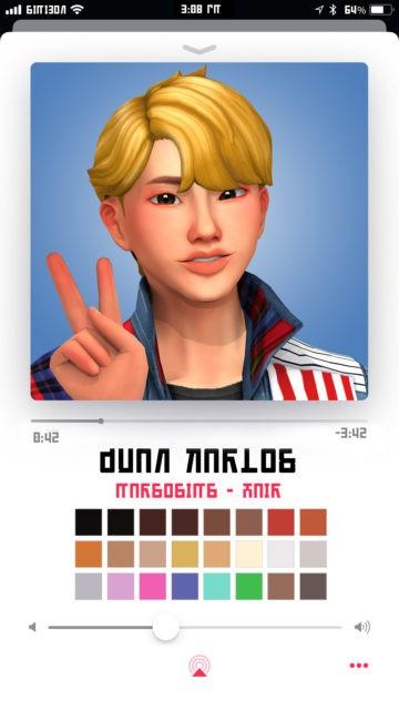 Мужская прическа для Sims 4 - Juan Karlos Hair