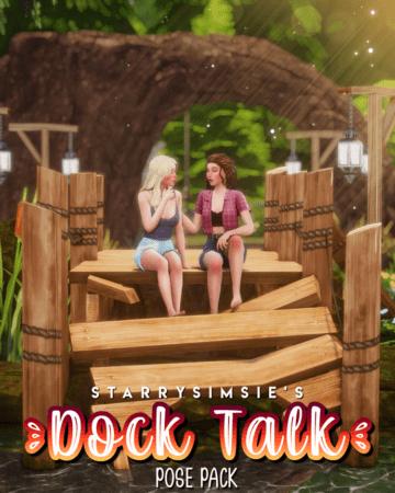 Парные позы для Sims 4 - Dock Talk