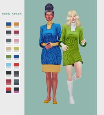 Платье в стиле ретро - Tech dress