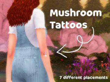 Тату для Sims 4 с грибочками - Mushroom Tattoos