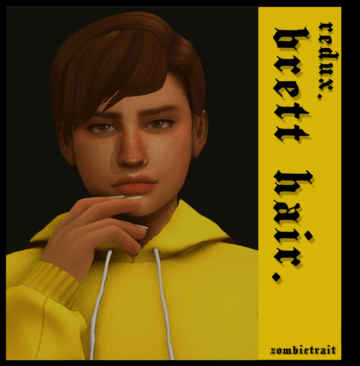 Мужская прическа Sims 4 с челкой - brett hair