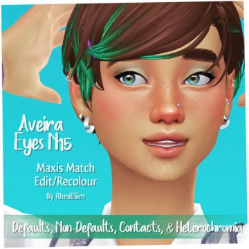 Дефолтные глаза для Sims 4 - Aveira EyesN15 MM Recolour