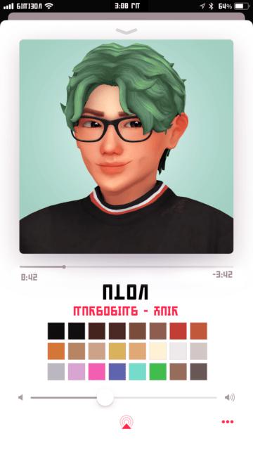Мужская прическа для Sims 4 - Alon Hair