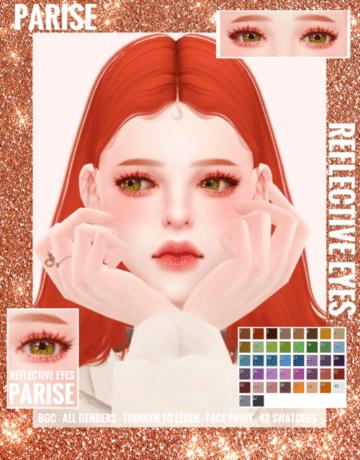 Реалистичные альфа-линзы - Reflective Eyes