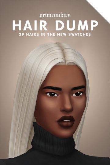 Пак из 39 мужских и женских причесок для Sims 4 - Hair Dump
