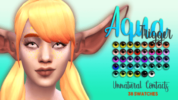 Линзы для сверхъестественных персонажей в Sims 4 - Aqua Trigger Eyes Unnaturals