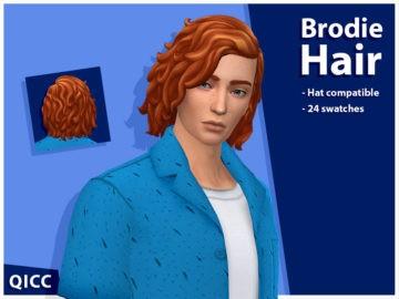 Мужская прическа для Sims 4 - Brodie Hair