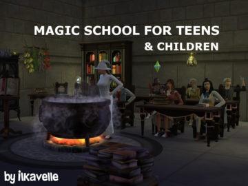 "Мод ""Школа магии"" для Sims 4 - Magic School"
